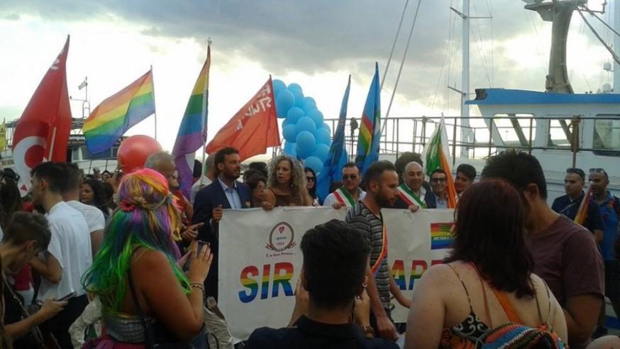 Siracusa, Onda pride: Ortigia è arcobaleno. Cirinnà madrina della tre giorni